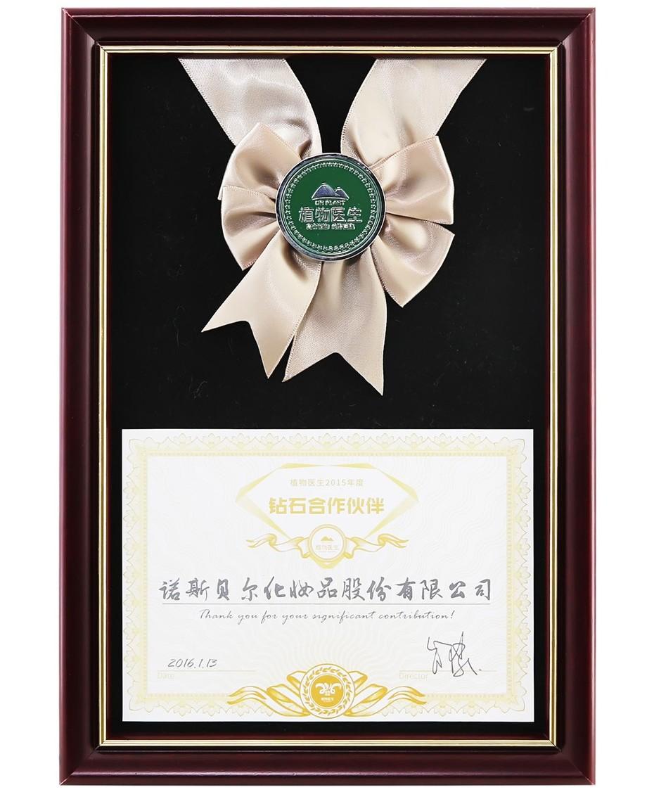 Diamond Partner Award of Dr. Plant 2015