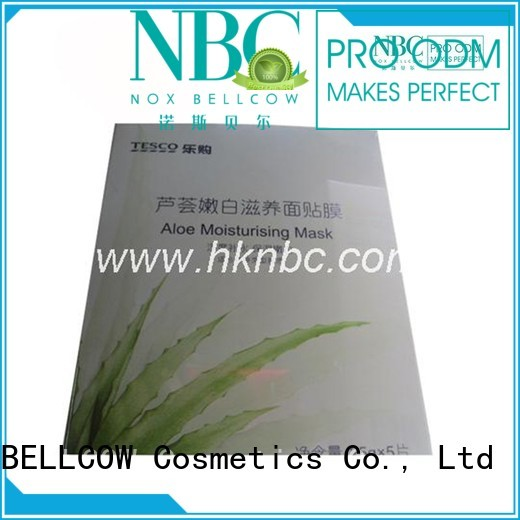 naturecolored facial mask manufacturer relief NOX BELLCOW company