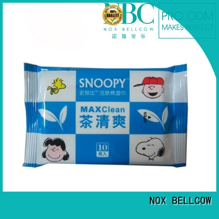 acne cleansing wipes scented tea green NOX BELLCOW Brand facial cleansing wipes