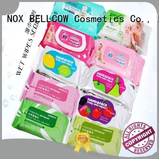 adult mans facial cleansing wipes control scented NOX BELLCOW company