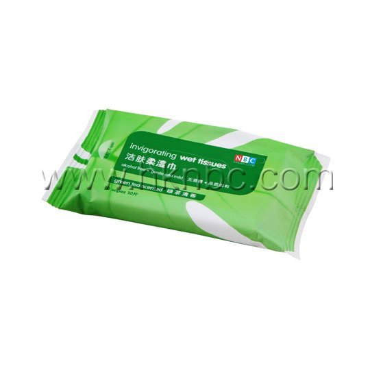 Invigorating Wet tissues- Peppermint Scented (10pcs)