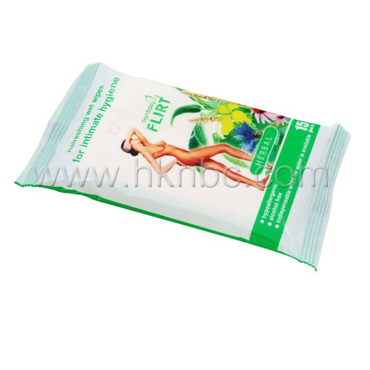 Refreshing Wet Wipes for Intimate Hygiene- Camomile