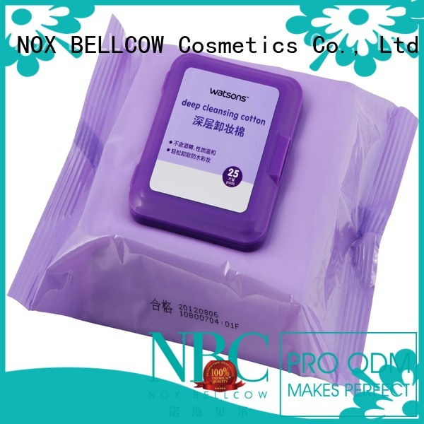 cotton eraser oil free makeup remover wipes ​makeup NOX BELLCOW company