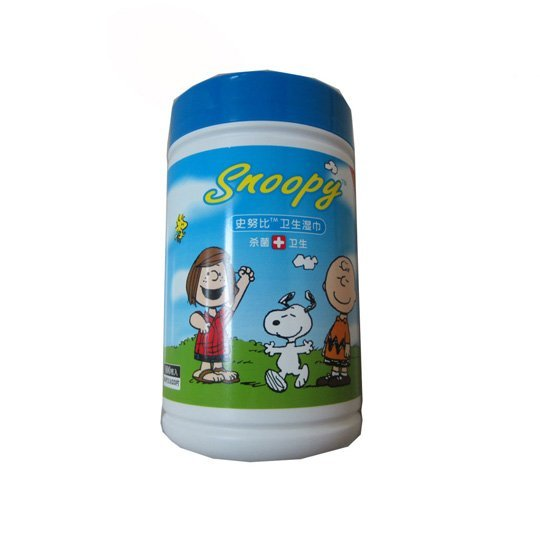 snoopy 80's anti bacterial wipes