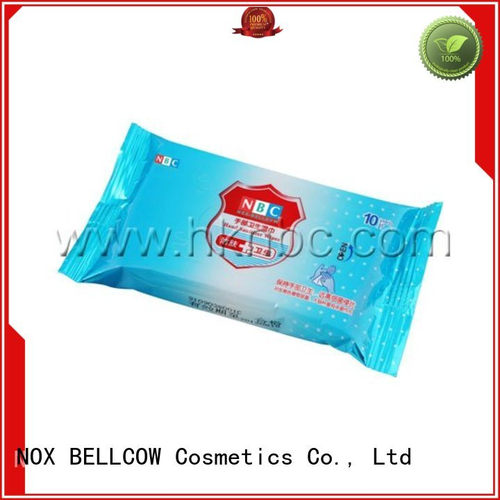 Hot facial cleansing wipes wipe NOX BELLCOW Brand
