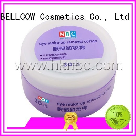 Wholesale deep oil free makeup remover wipes eye NOX BELLCOW Brand