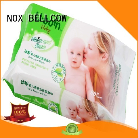 Quality NOX BELLCOW Brand biodegradable baby wipes fragrance wipe