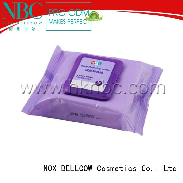 wipes makeupremover oil free makeup remover wipes NOX BELLCOW manufacture