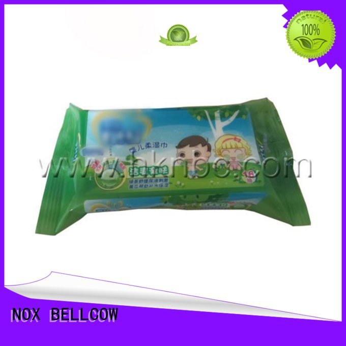 NOX BELLCOW Brand special moisturizing hand biodegradable baby wipes