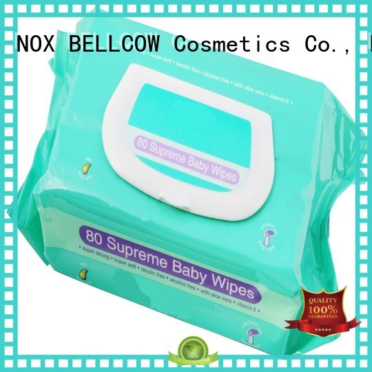 Hot hand biodegradable baby wipes fragrance NOX BELLCOW Brand
